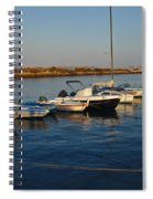Boats At Sunset In Fuzeta Spiral Notebook