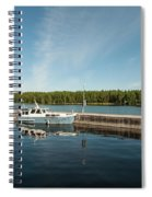 Boats At The Dock Spiral Notebook