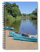 Boats At The Ready Spiral Notebook