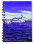 Boats Everywhere 3 Spiral Notebook