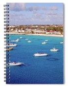 Boats  Grand Turk Spiral Notebook
