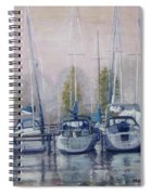 Boats In A Row Spiral Notebook