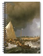 Boats In A Storm  Spiral Notebook