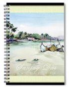 Boats In Beach Spiral Notebook