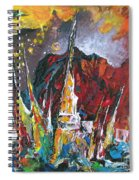 Boats In Calpe 01 Spain Spiral Notebook
