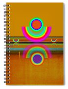 Boats In Ochre Spiral Notebook