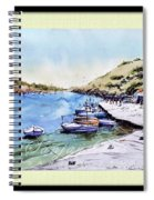 Boats In Spain Spiral Notebook