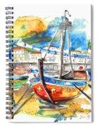 Boats In Tavira In Portugal 02 Spiral Notebook