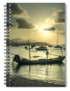 Boats In The Bay Spiral Notebook
