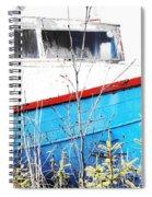 Boats In The Garden Spiral Notebook