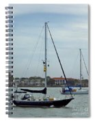 Boats In The Inlet Spiral Notebook