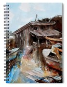 Boats In The Slough Spiral Notebook