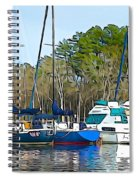 Boats In The Water Spiral Notebook