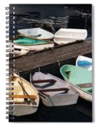 Boats In Waiting Spiral Notebook