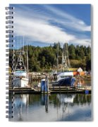 Boats In Winchester Bay Spiral Notebook