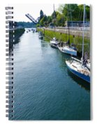 Boats Moving Into Chittenden Locks Seattle Spiral Notebook