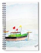 Boats Near Khashid Beach Spiral Notebook
