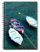 Boats On A Line Spiral Notebook
