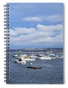 Boats On Blue Water Spiral Notebook