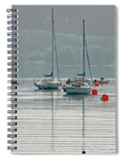 Boats On Carsington Water Spiral Notebook