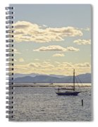 Boats On Lake Champlain Vermont Spiral Notebook