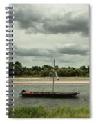 Boats On River Loire - France Spiral Notebook