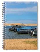 Boats On Silver Lake Michigan Spiral Notebook