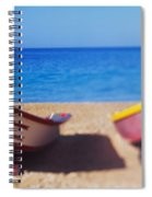 Boats On The Beach, Aguadilla, Puerto Spiral Notebook