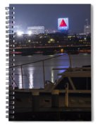 Boats On The Charles River Citgo Sign Boston Massachusetts Spiral Notebook