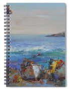 Boats On The Cost Spiral Notebook
