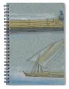 Boats On The Nile Spiral Notebook