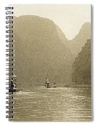 Boats On The River Tam Coc No1 Spiral Notebook