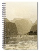 Boats On The River Tam Coc No2 Spiral Notebook