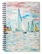 Boats On Water Monet  Spiral Notebook