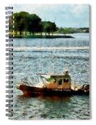 Boats - Police Boat Norfolk Va Spiral Notebook