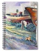 Boats Yard In Villajoyosa Spain Spiral Notebook