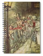 Bob Cratchit Went Down A Slide On Cornhill Spiral Notebook
