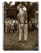 Bob Hope At Pro-am At Pebble Beach California 1953 Spiral Notebook