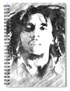 Bob Marley Bw Portrait Spiral Notebook