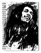 Bob Marley Silhouette   Spiral Notebook