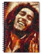 Bob Marley Vegged Out Spiral Notebook