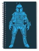 Boba Fett - Star Wars Art, Blue Spiral Notebook