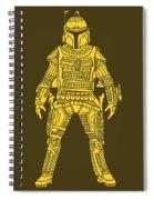 Boba Fett - Star Wars Art, Yellow Spiral Notebook