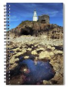 Bob's Cave At Mumbles Lighthouse Spiral Notebook