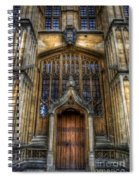 Bodleian Library Door - Oxford Spiral Notebook