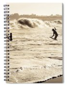 Body Surfing Family Spiral Notebook