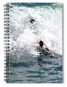 Body Surfing The Ocean Waves Spiral Notebook