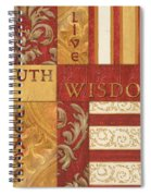 Bohemian Red Spice 2 Spiral Notebook