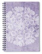 Boho Floral Mandala 1- Art By Linda Woods Spiral Notebook