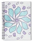 Boho Floral Mandala 4- Art By Linda Woods Spiral Notebook